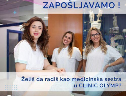 Želiš da radiš kao medicinska sestra u Clinic Olymp?